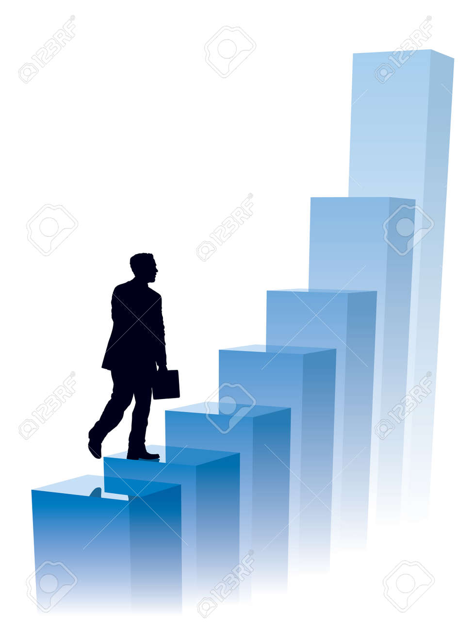 Businessman in a hurry, conceptual business illustration. Stock Vector - 3867499