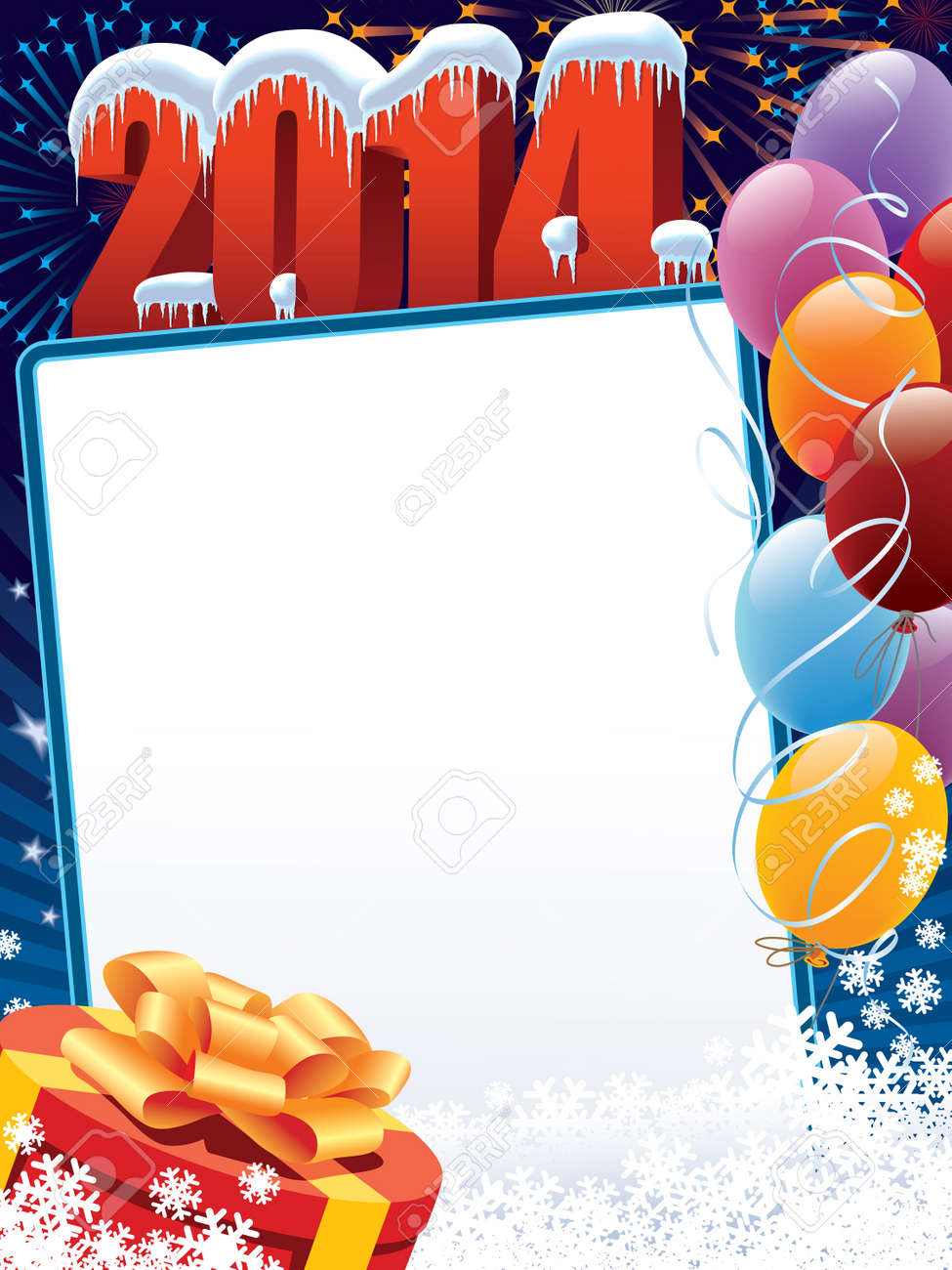 New Year decoration ready for your message Stock Vector - 21775476