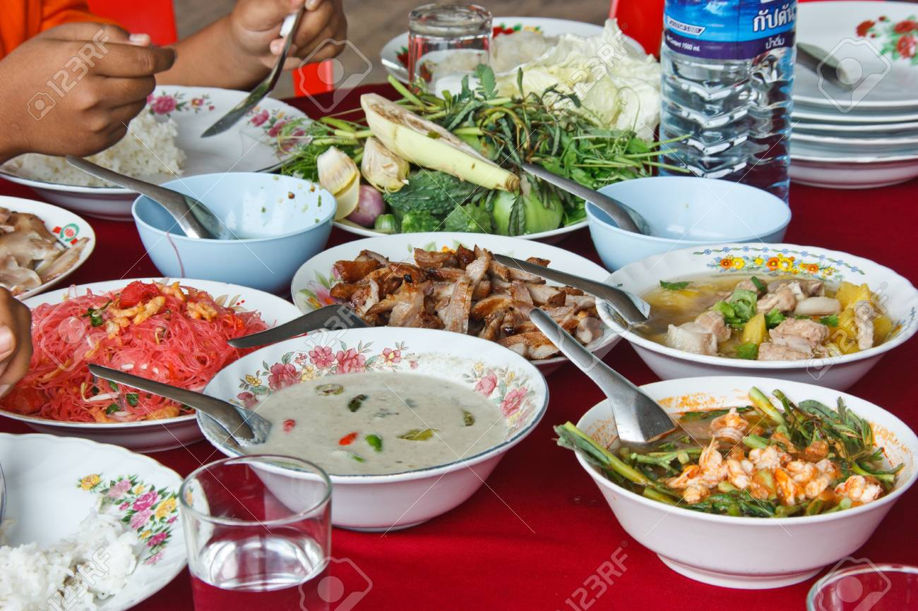sour soup made of tamarind paste , local food that is appetizing , there are a lot of spiceses , be valuable build [ wasp ] taste cinnabar delicious many bodies Stock Photo - 15188871