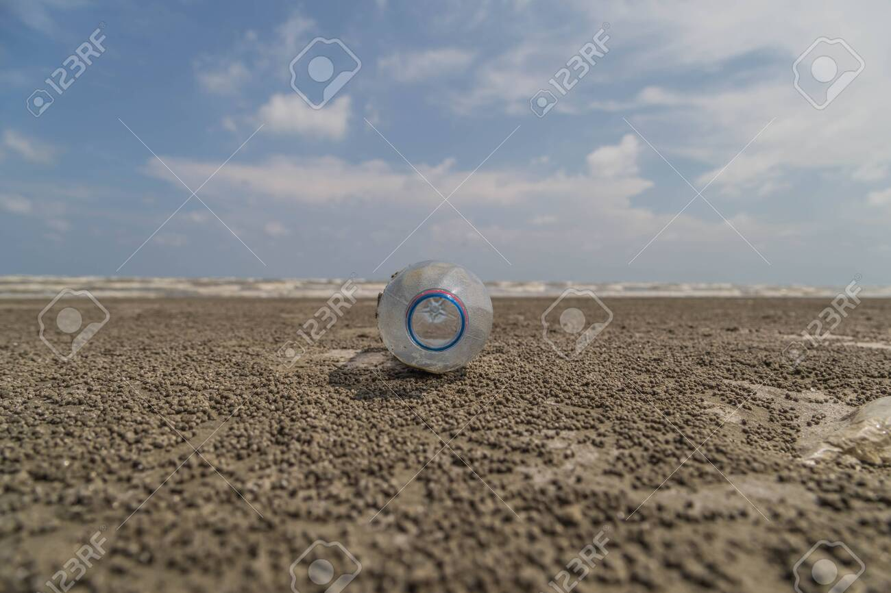 The beach is sloping into the water or the shallow hills are in the middle of the water. By a lot of sand dunes Always change shape. It is a constantly changing environment. - 132304366