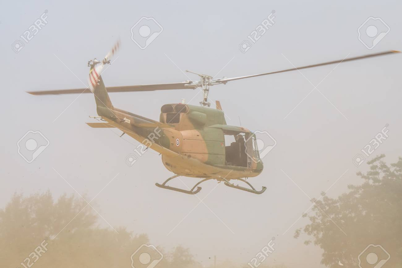 CHONBURI, THAILAND -FEB  17, 2018: Bell-212 transport helicopter