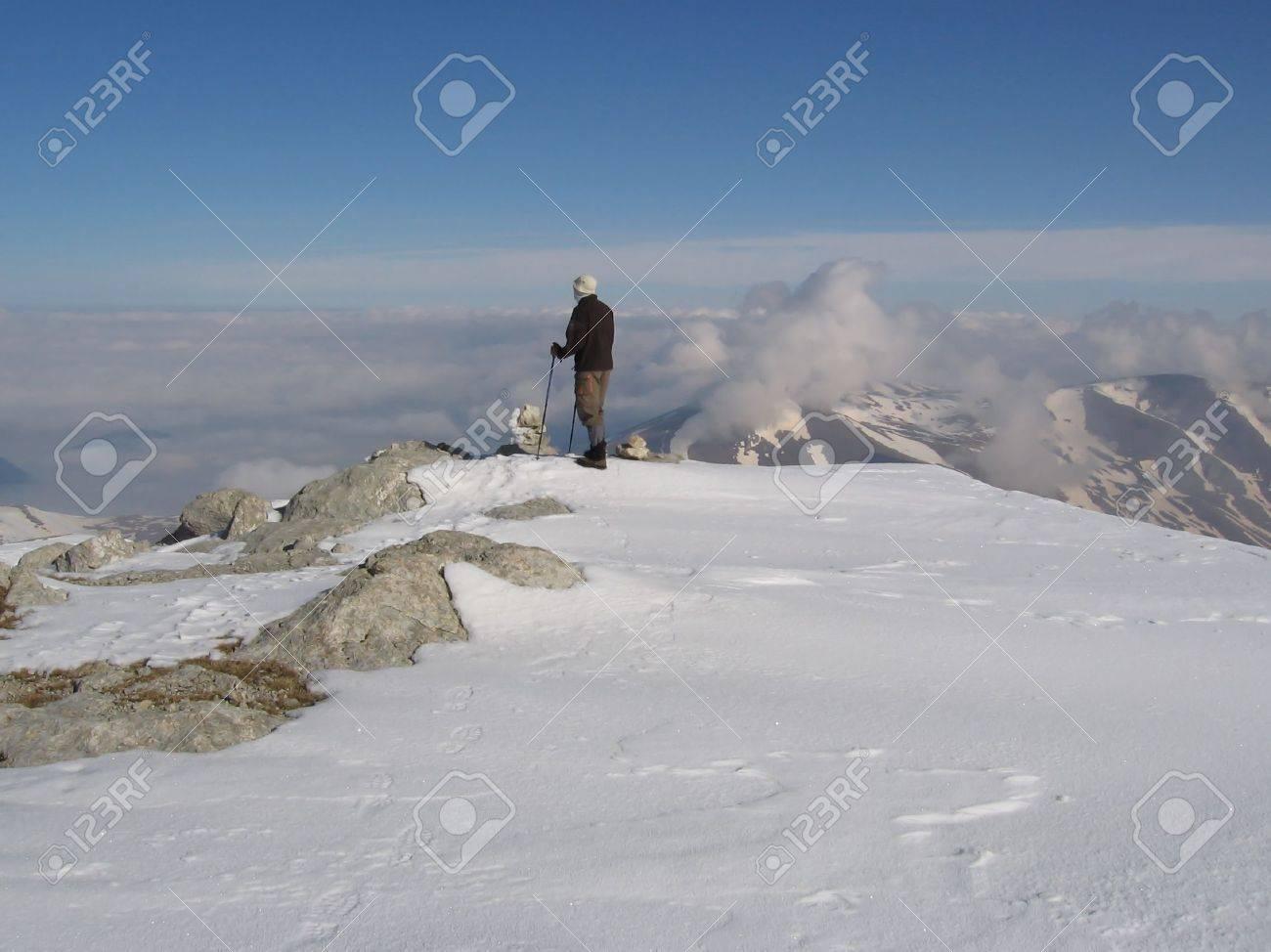 For summit mountain Oshten in Caucasus Stock Photo - 400842