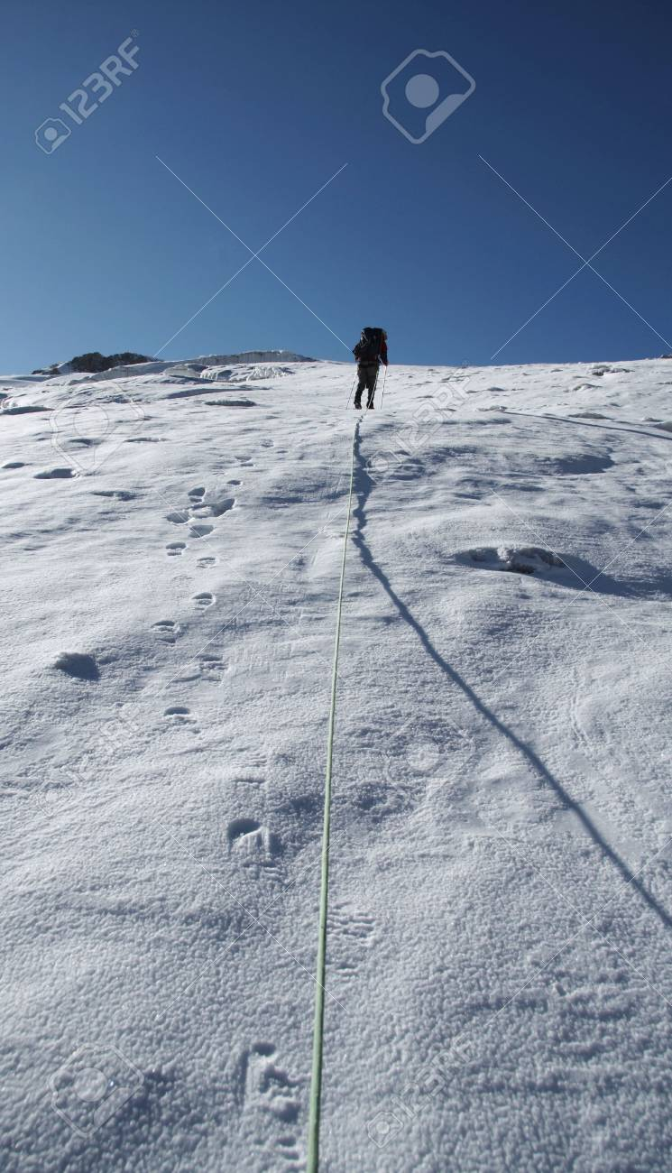 The climb on the Cordillera mountain Stock Photo - 548719