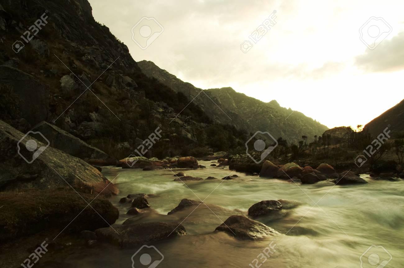 Beautiful creek in the Cordilleras Stock Photo - 590655