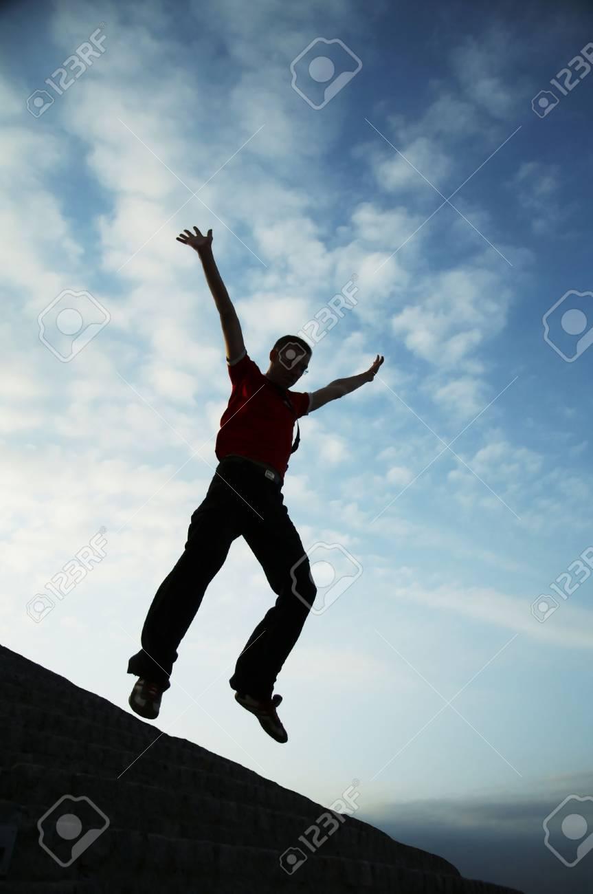 Jumping man Stock Photo - 981687
