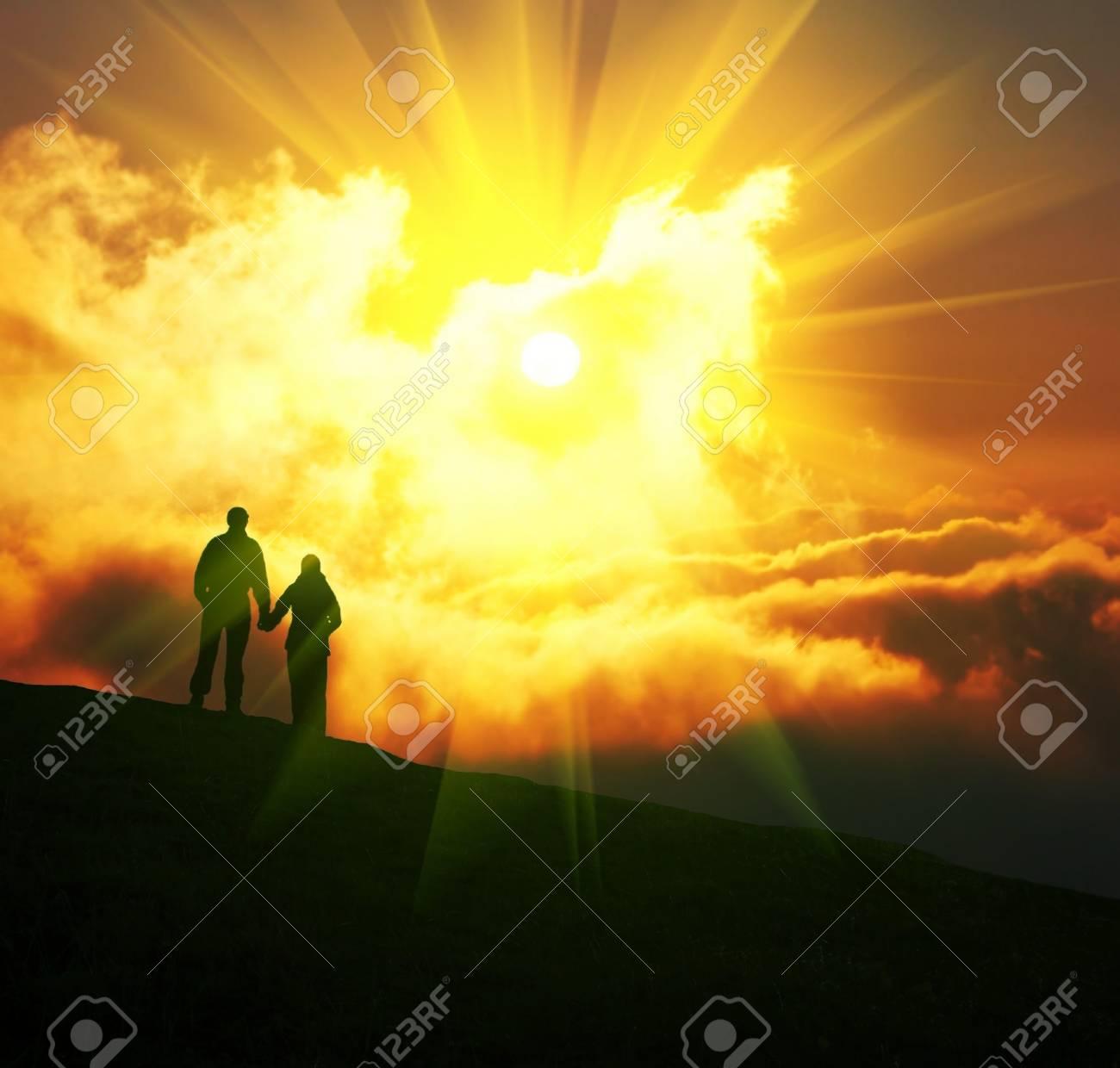 Couple on sunset Stock Photo - 4531842