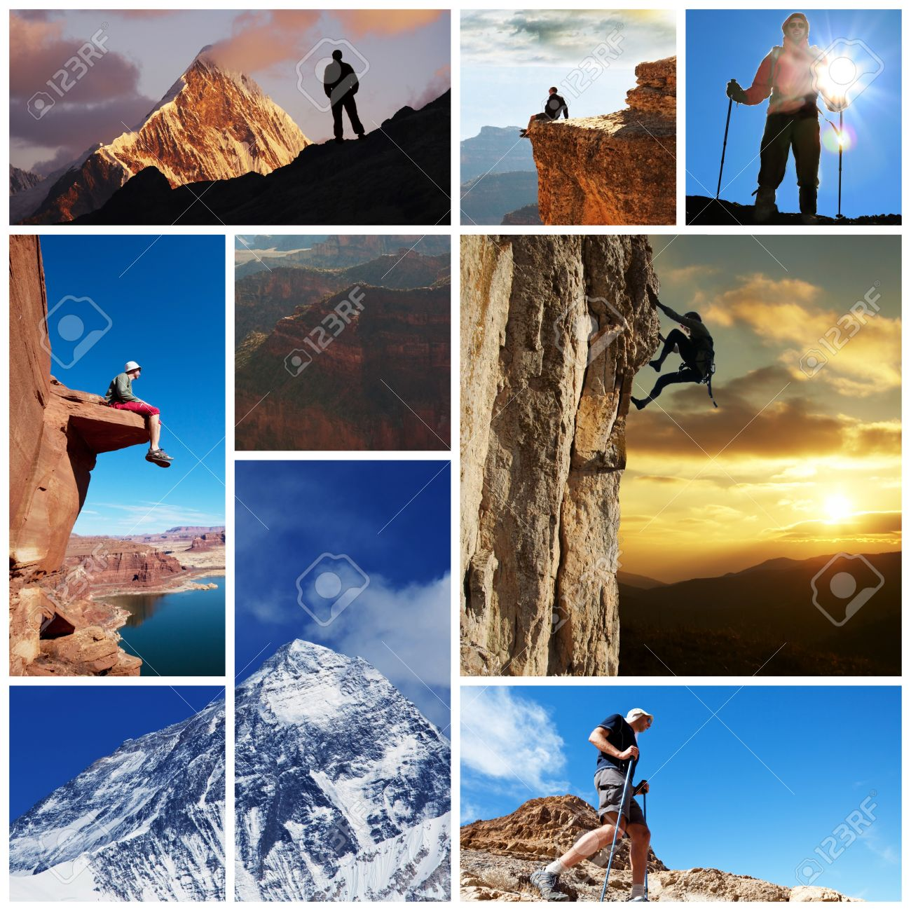 hiking collage Stock Photo - 12857071