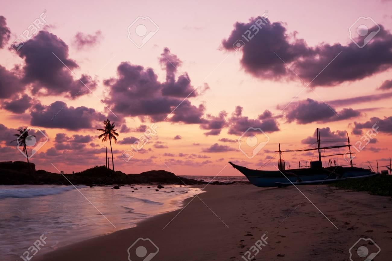Fishing boat on  Sri Lanka Stock Photo - 13345452