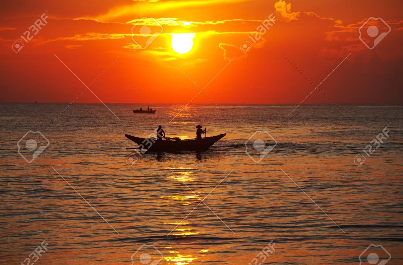 Fishing boat on  Sri Lanka Stock Photo - 13345465