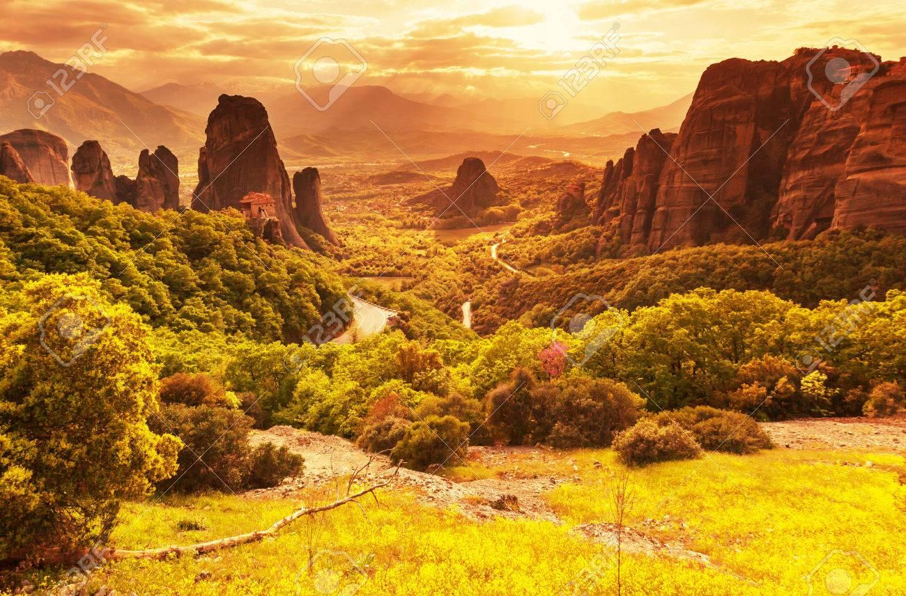 Meteora monasteries in Greece. - 40113870