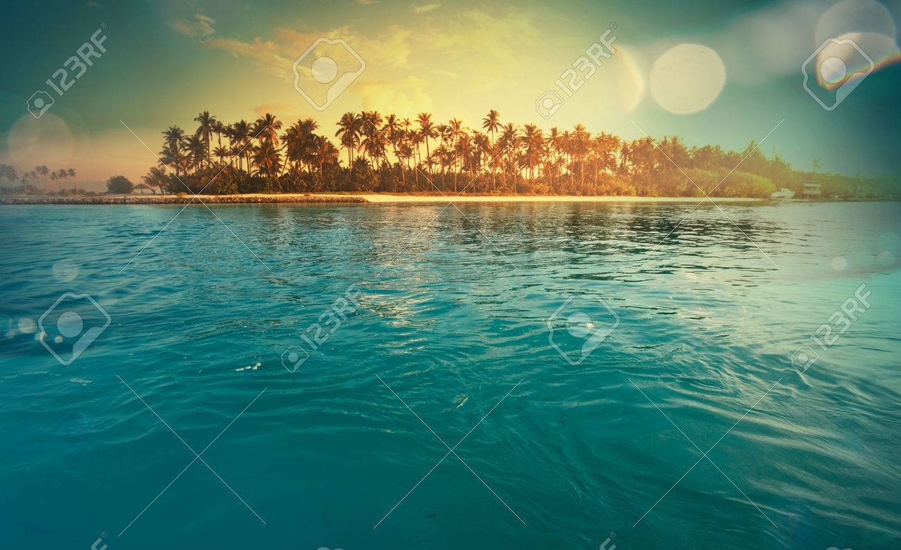 Serenity tropical beach Stock Photo - 40708238