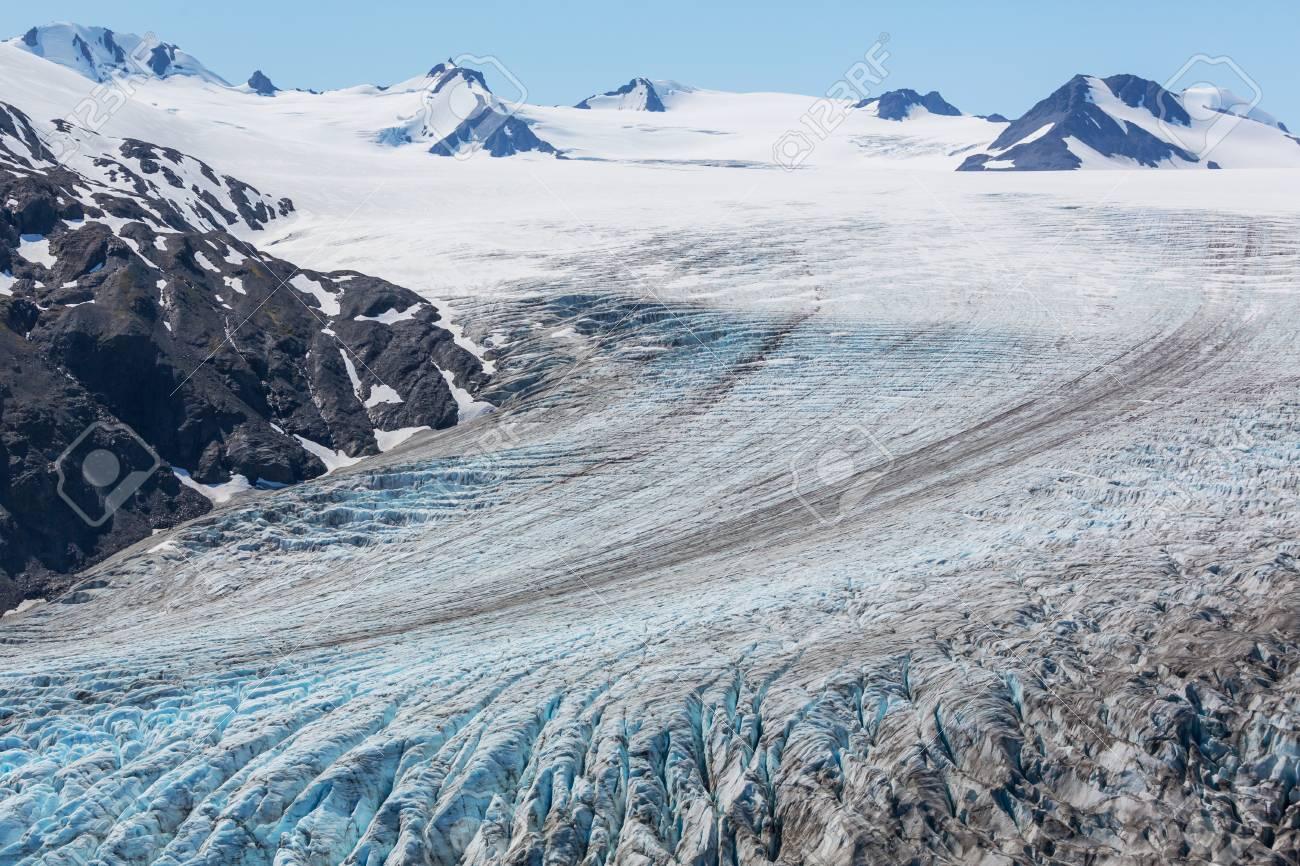 exit glacier kenai fjords national park seward alaska stock photo