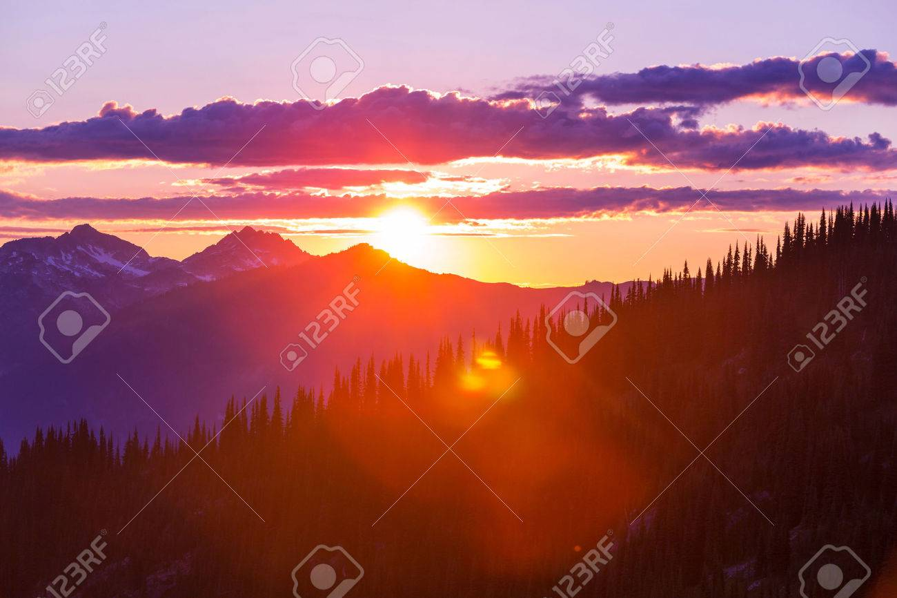 Sunset on  summit  Haleakala , Hawaii Stock Photo - 43989531