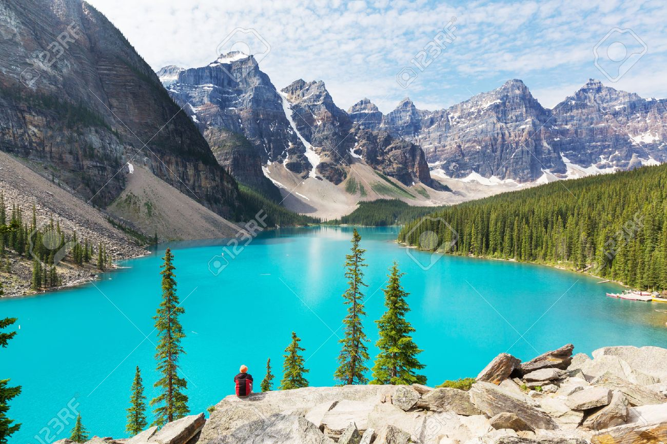 Beautiful Moraine lake in Banff National park, Canada Stock Photo - 44586355