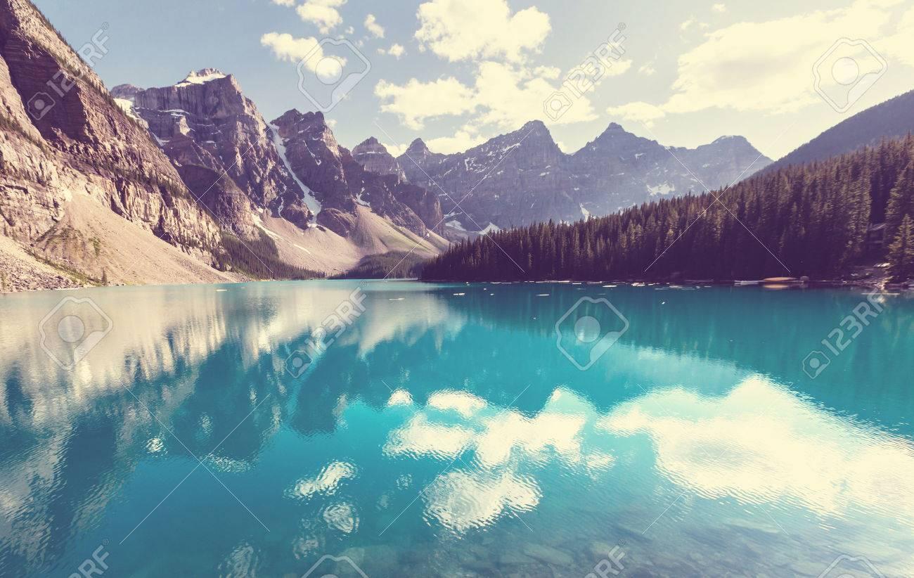 Beautiful Moraine lake in Banff National park, Canada Stock Photo - 44539851