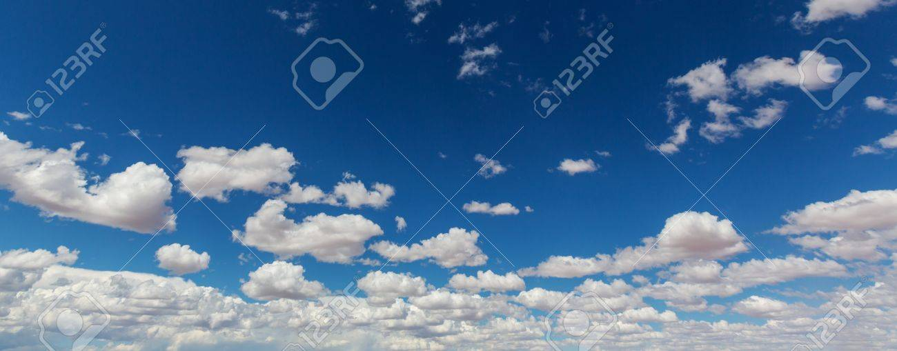 Peaceful blue sky and white clouds Stock Photo - 65308705