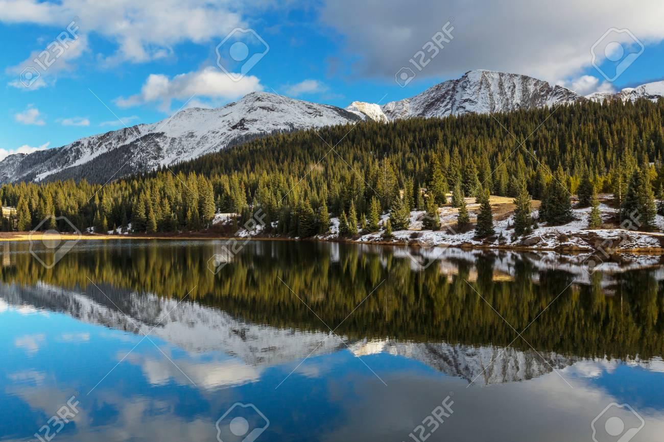 Mountain Landscape In Colorado Rocky Mountains Colorado United