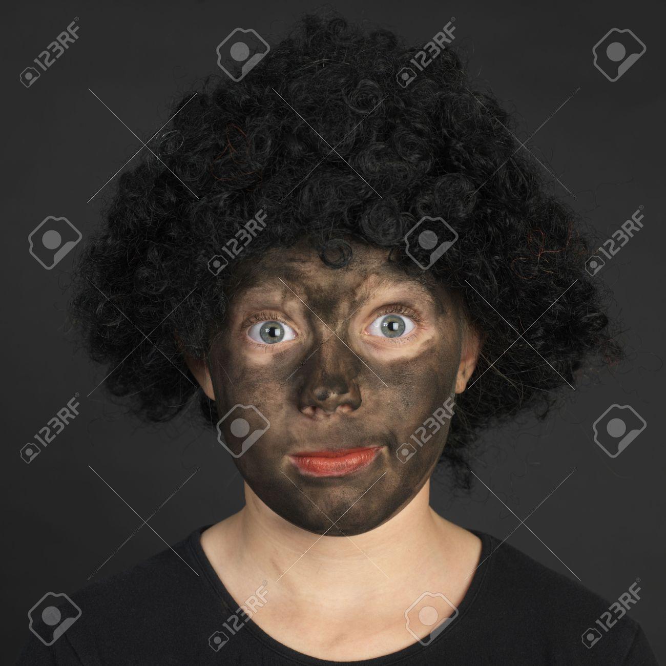 White girl afro
