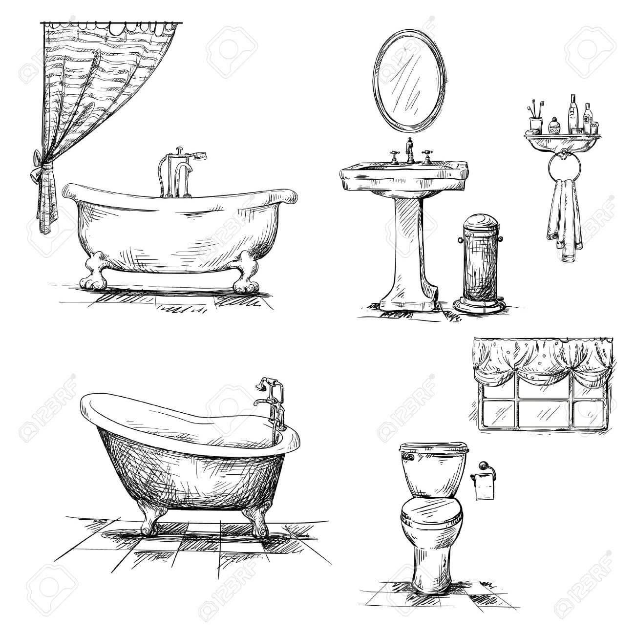 Bathroom sink drawing - Bathroom Sink Bathroom Interior Elements