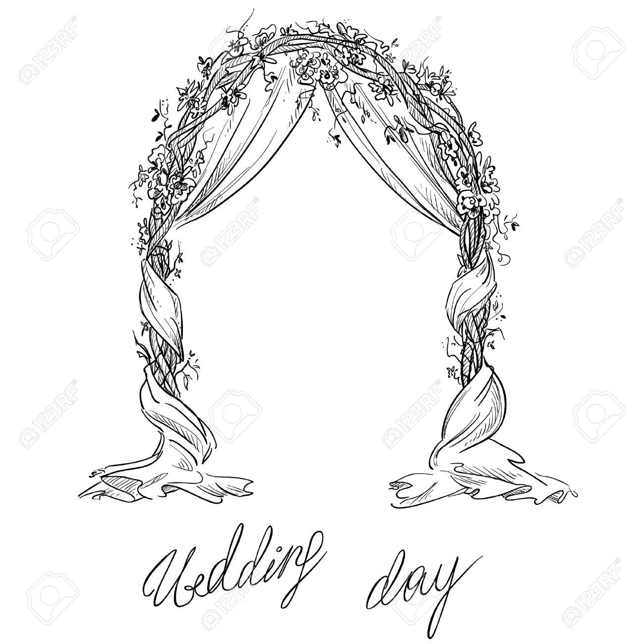 wedding arch decoration vector sketch design element stock vector 43231219