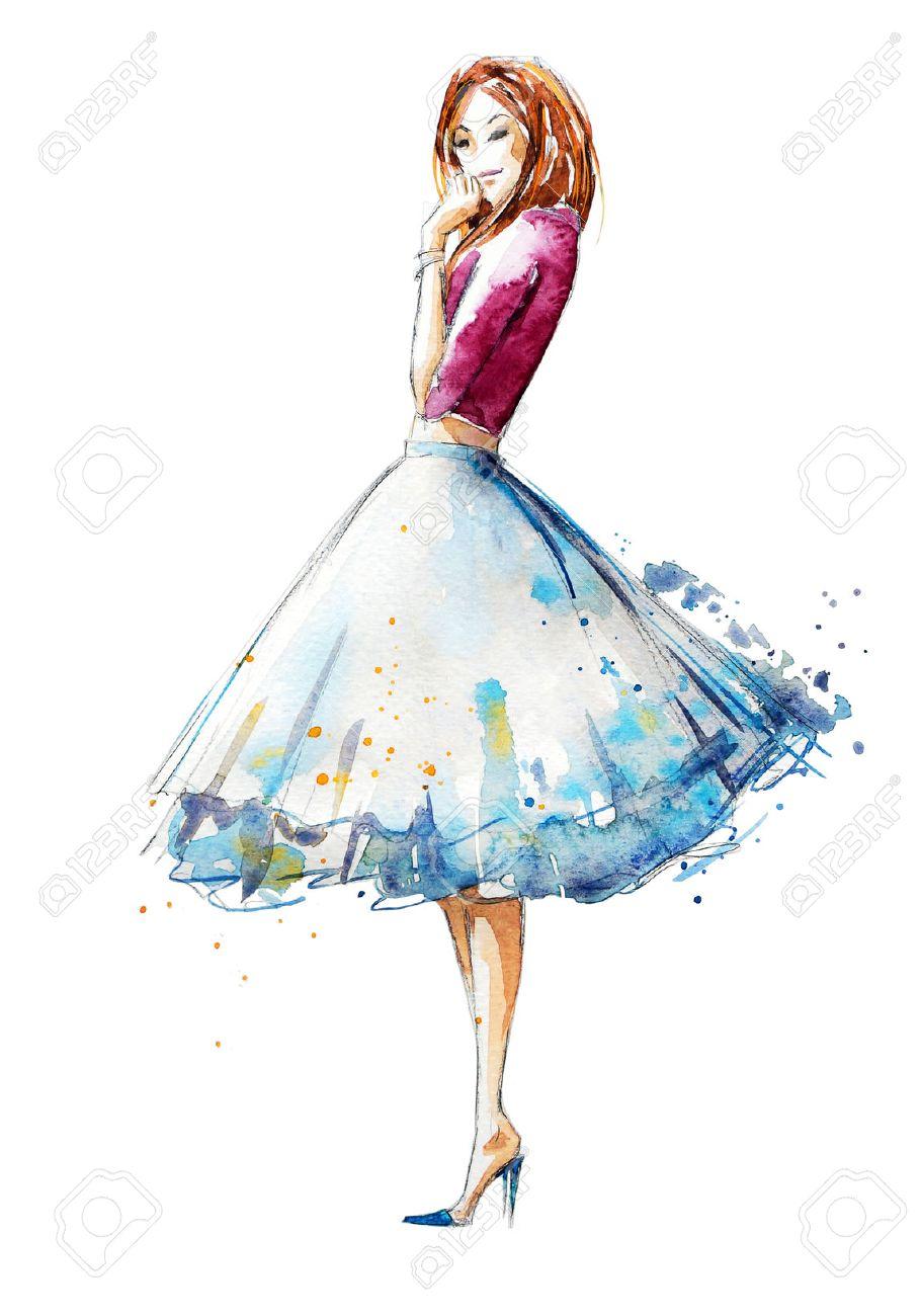 fb10768a8f Illustration - watercolor fashion illustration