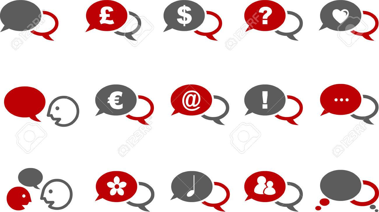 Vector icons pack - Red Series, baloon collection Stock Vector - 5057560