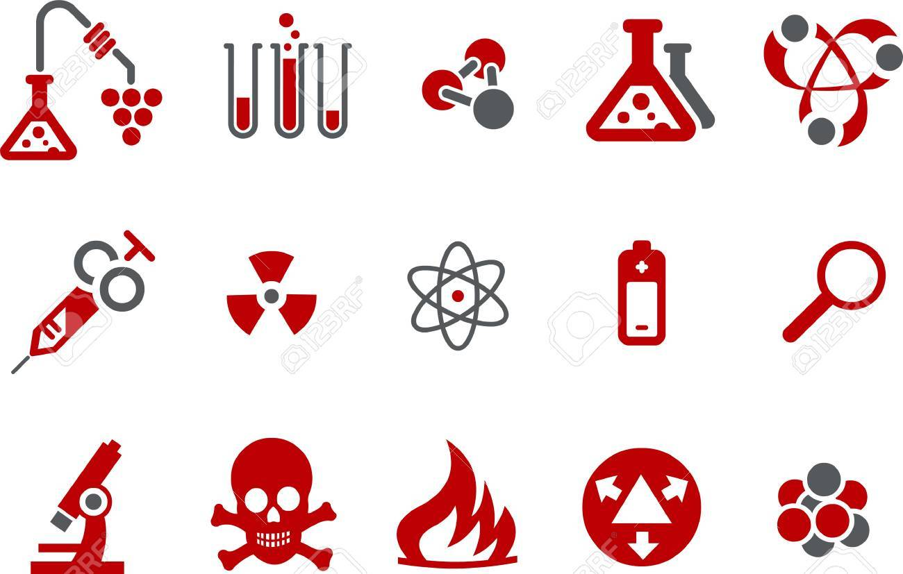 Vector icons pack - Red Series, research collection Stock Vector - 5057651