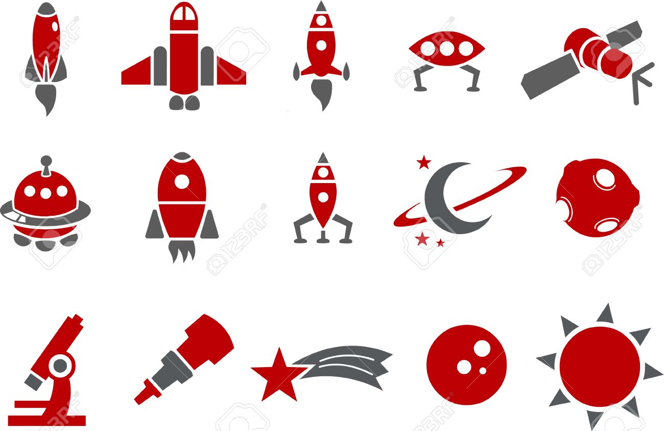 Red Rocket Icon Vector icons pack - Red Series