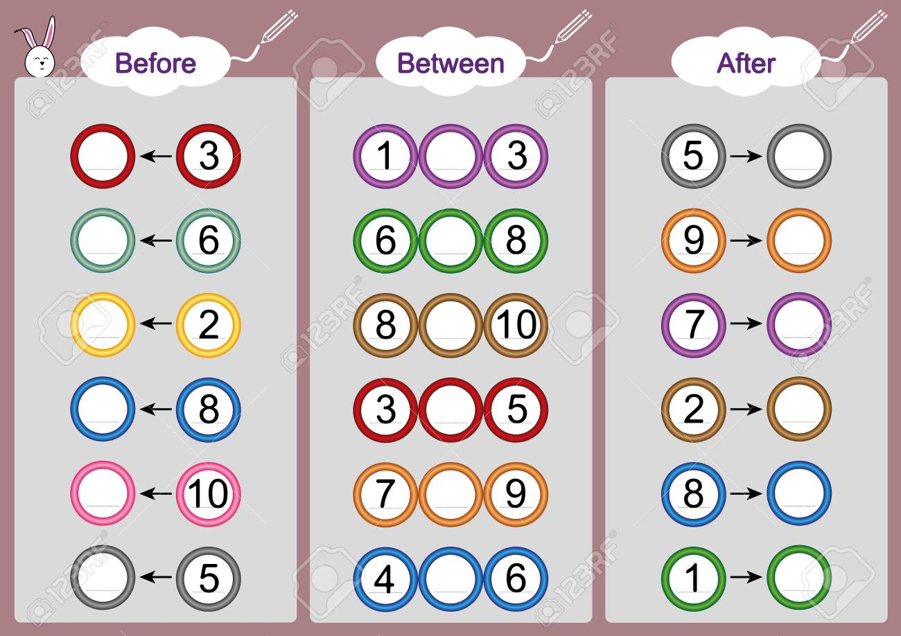 What Comes Before-Between And After, Math Worksheets For Kids ...