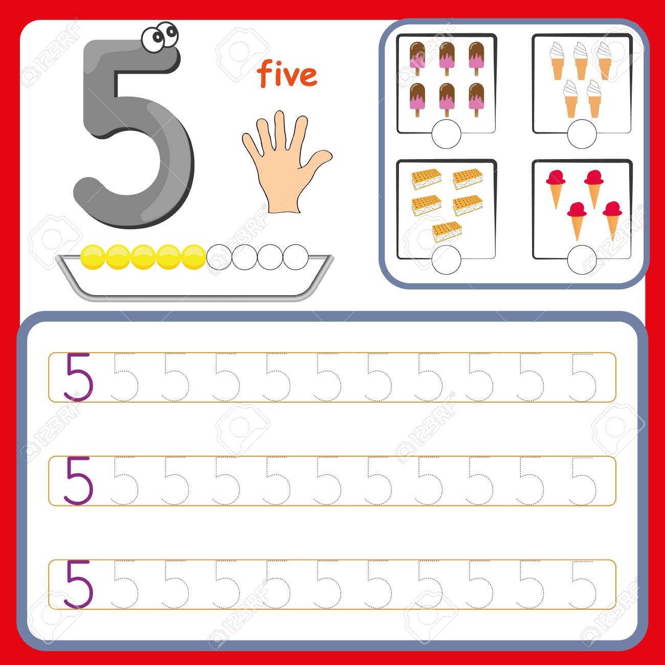 Number cards, Counting and writing numbers, Learning numbers,..