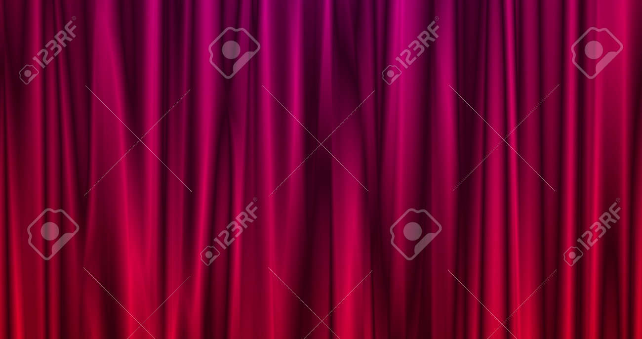 Magical Merry Christmas background with red stage curtain cloth . Luxury walpaper for the day of St. Valentine, New Year, Unniversary celebration and Wedding ceremony 3d illustration - 165178076