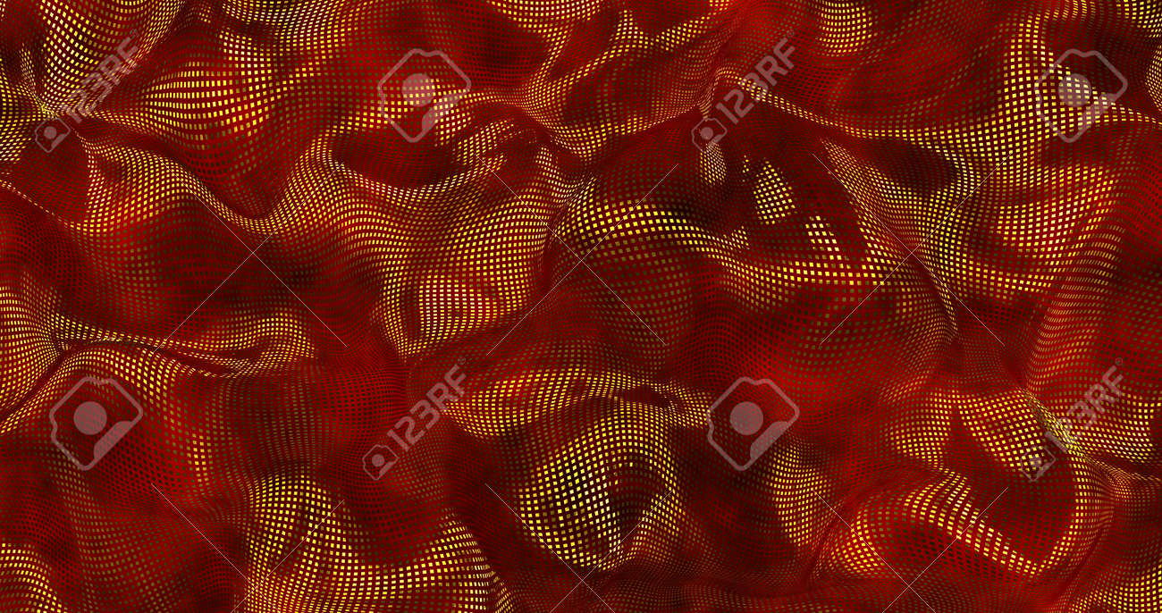 Red metallic sparkly silk background. Glamour satin texture 3D rendering . Magical Happy new year 3D illustration. - 166585616