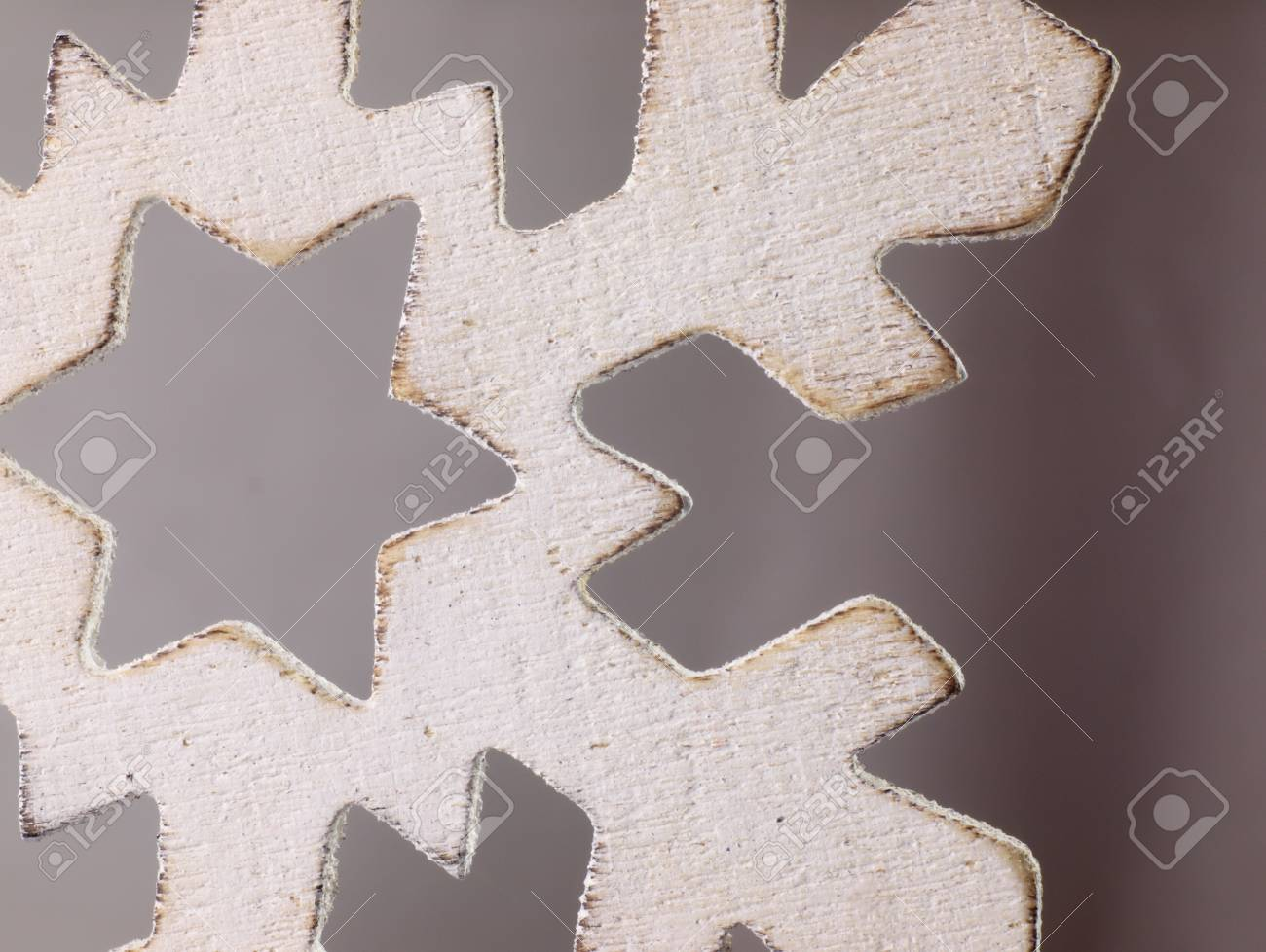Large Snowflake Closely Wooden Christmas Ornament In The Shape