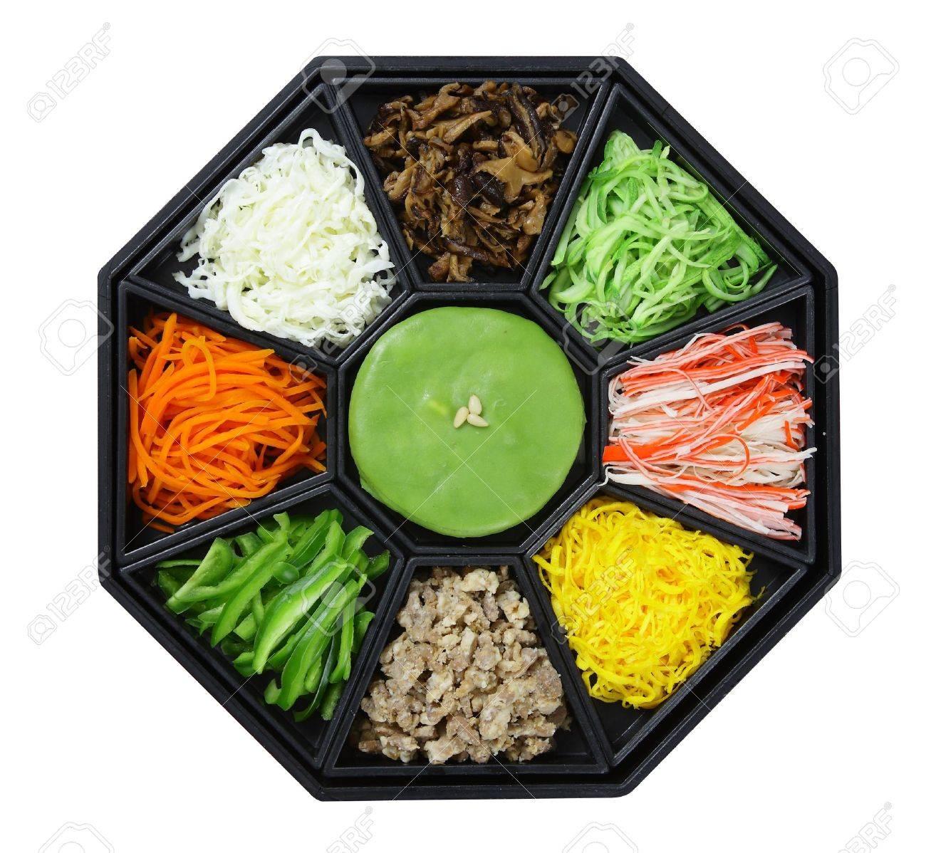 Korean cuisine set isolate on white background - 21688377