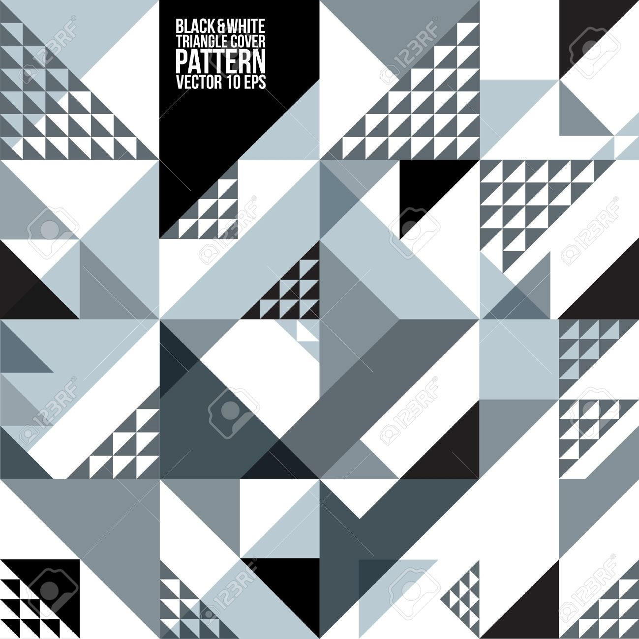 Abstract Geometric Black White Triangle Pattern Background , Cover , Layout , Magazine, Brochure , Poster , Website , etc - 21117085