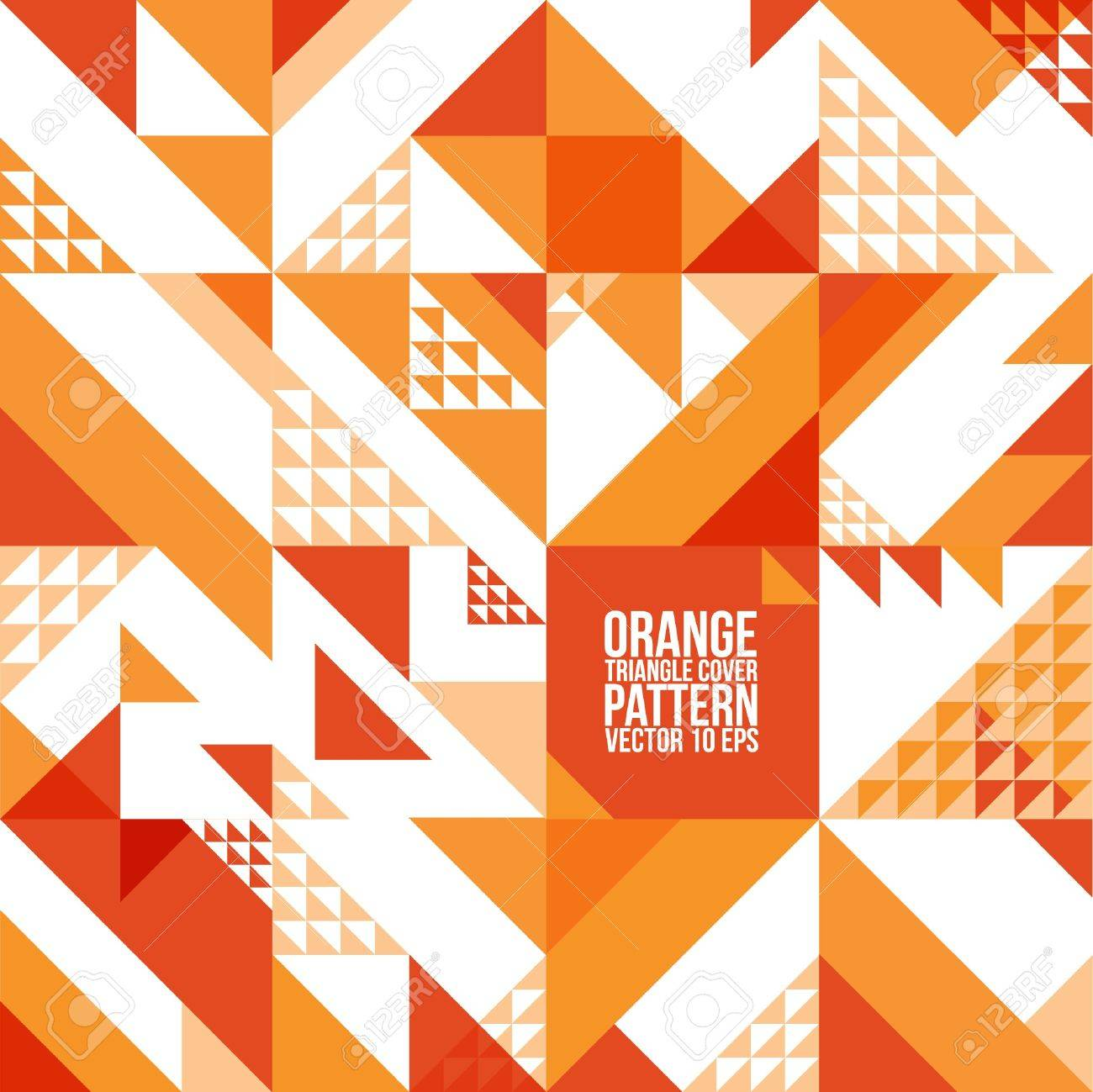 Abstract Geometric Orange Triangle Pattern Background , Cover , Layout , Magazine, Brochure , Poster , Website , etc - 21117088