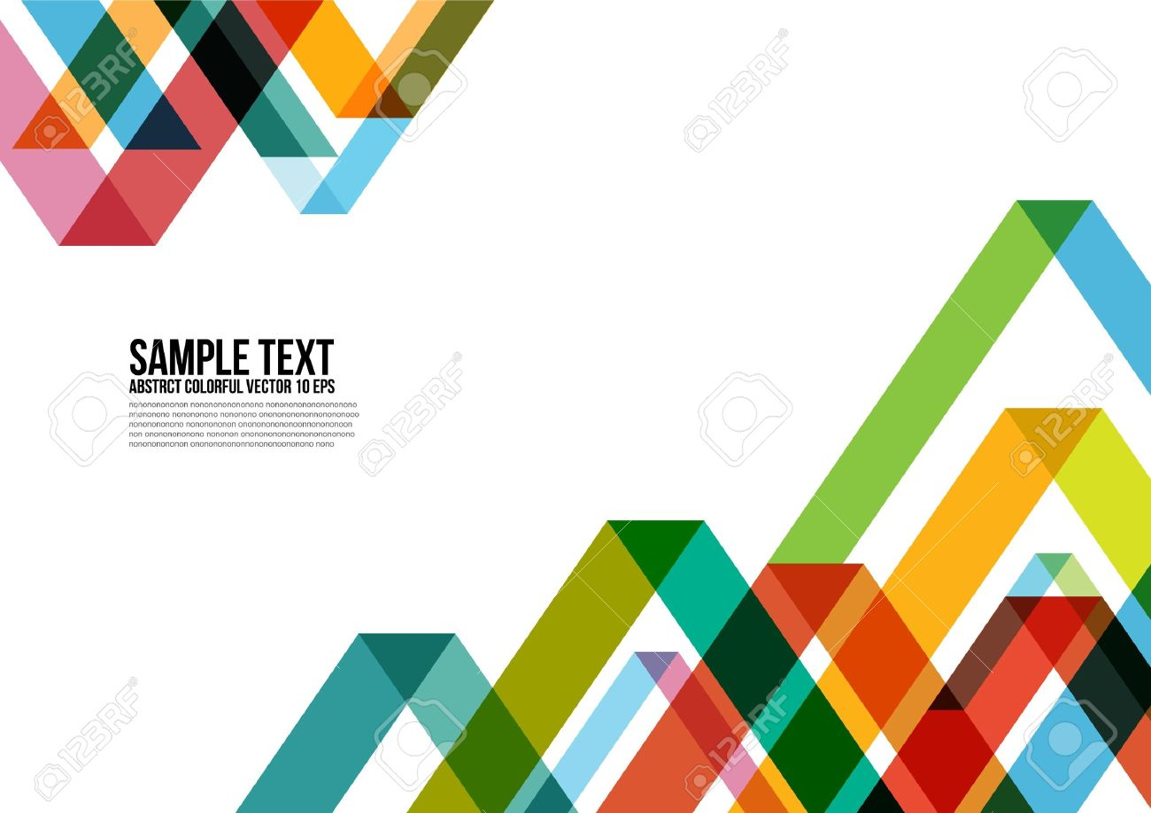 Abstract Colorful Triangle Pattern   Background Stock Vector - 21689810