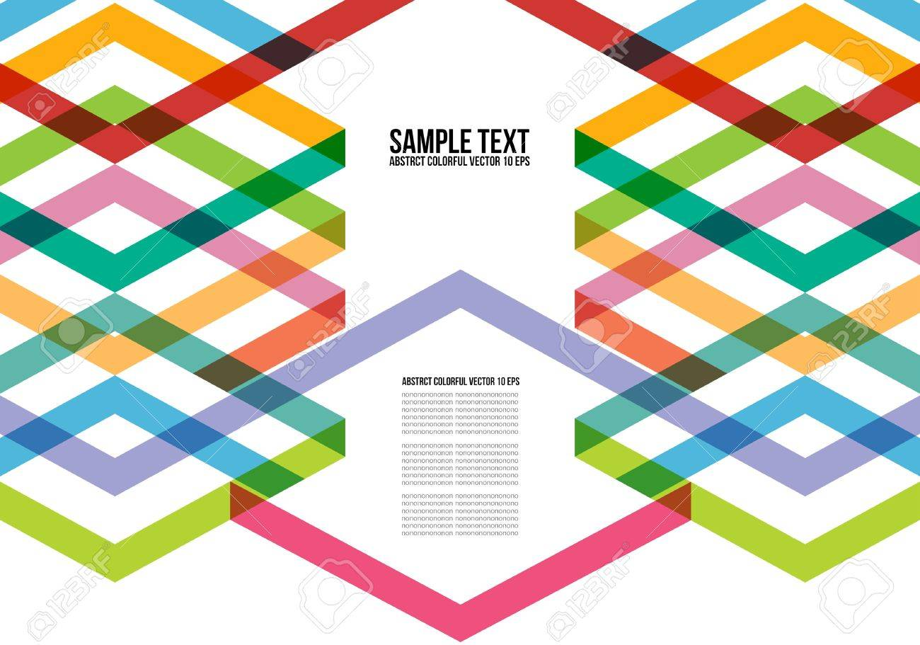 Abstract Colorful Triangle Pattern Background , Cover , Layout , Magazine, Brochure , Poster , Website , Name card , etc - 22125668