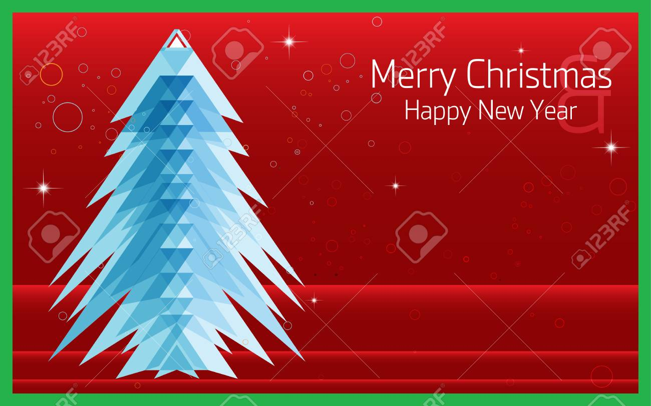 merry christmas happy new year abstract triangle pattern background cover layout magazine