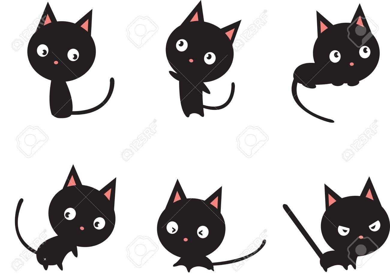 Black cat Stock Vector - 17452595