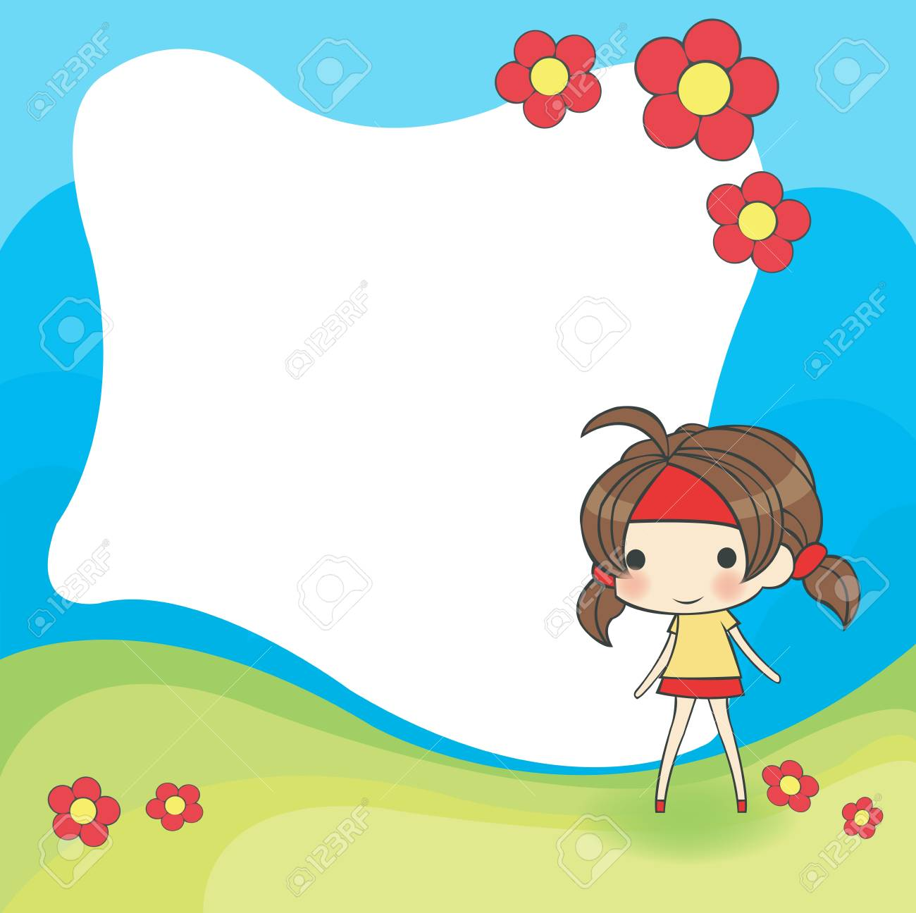 cute cartoon frame Stock Vector - 19561049