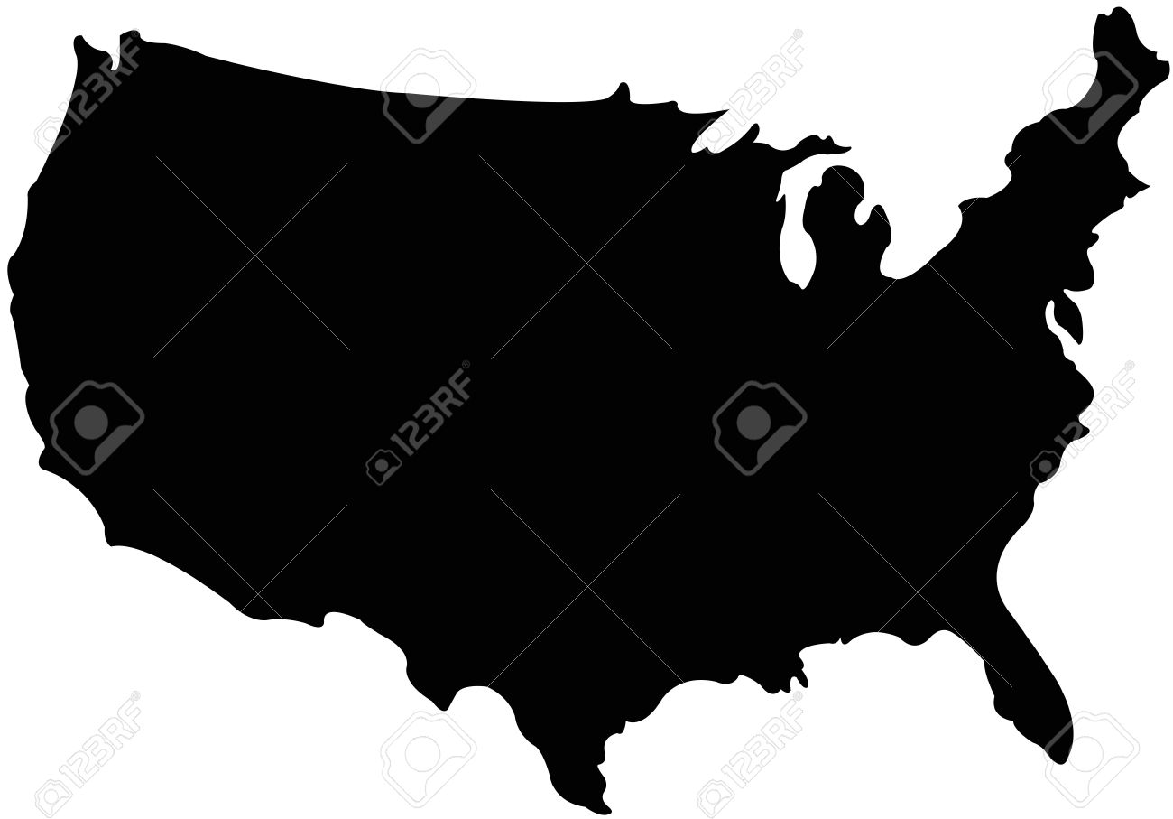 US And Canada Printable Blank Maps Royalty Free Clip Art - Us map with scale