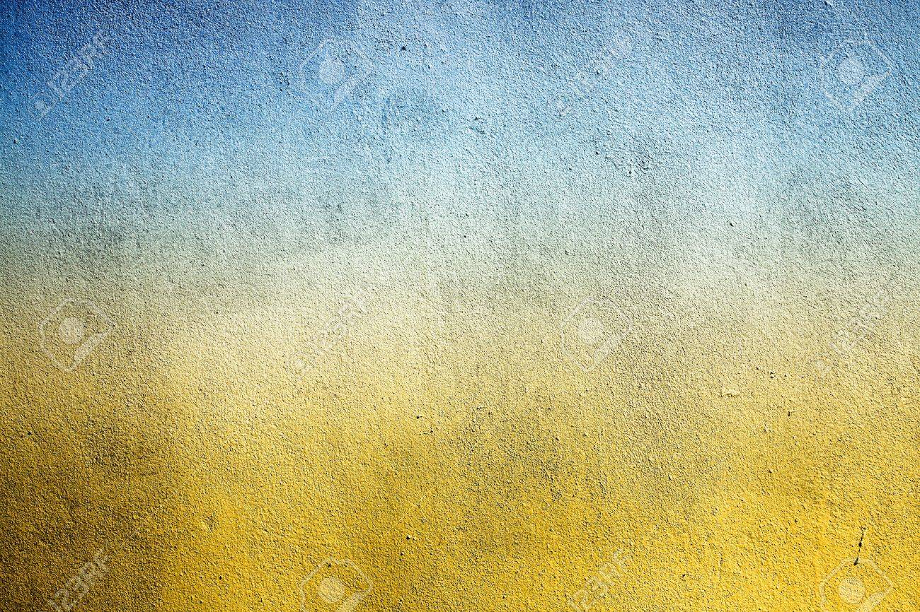 Grunge Cement Wall Color Blue Yellow Can Be Used As Background Stock ...