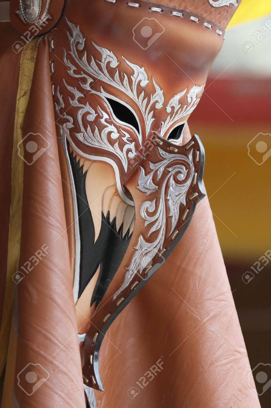 Ghost Dance Mask Leather Of Thailand Stock Photo, Picture And ...