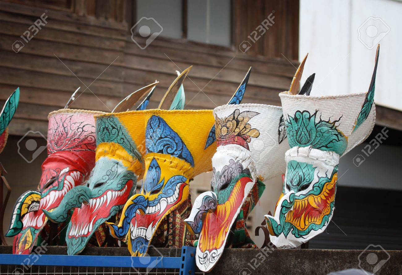 Ghost Dance Mask Colorful Art Of Thailand Stock Photo, Picture And ...