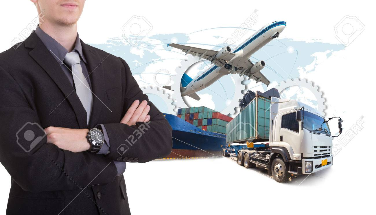 Business man withsupply chain management logistics Import Export concept - 60546567