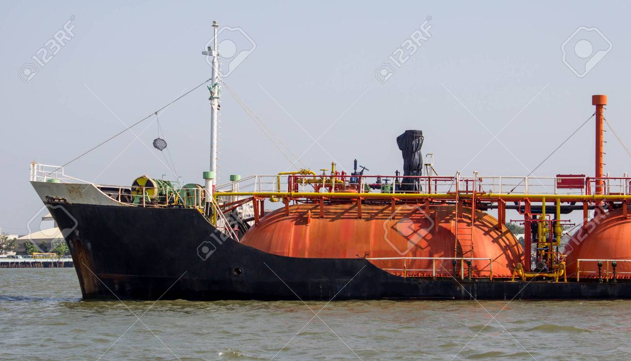 Oil and gas industry- gas tanker LPG Stock Photo - 27089834