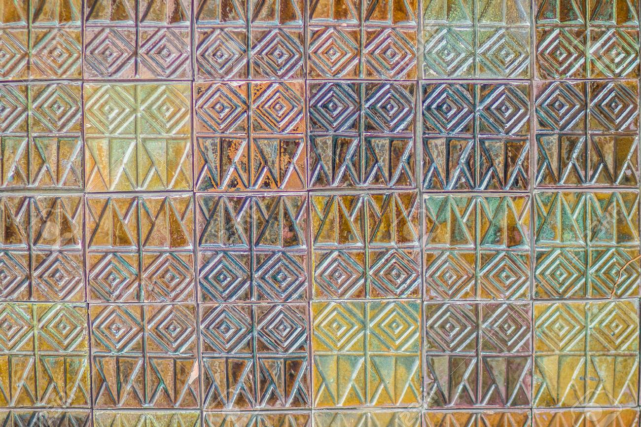 Colorful Abstract Mosaic Ceramic Tiles Wall Textured Pattern For