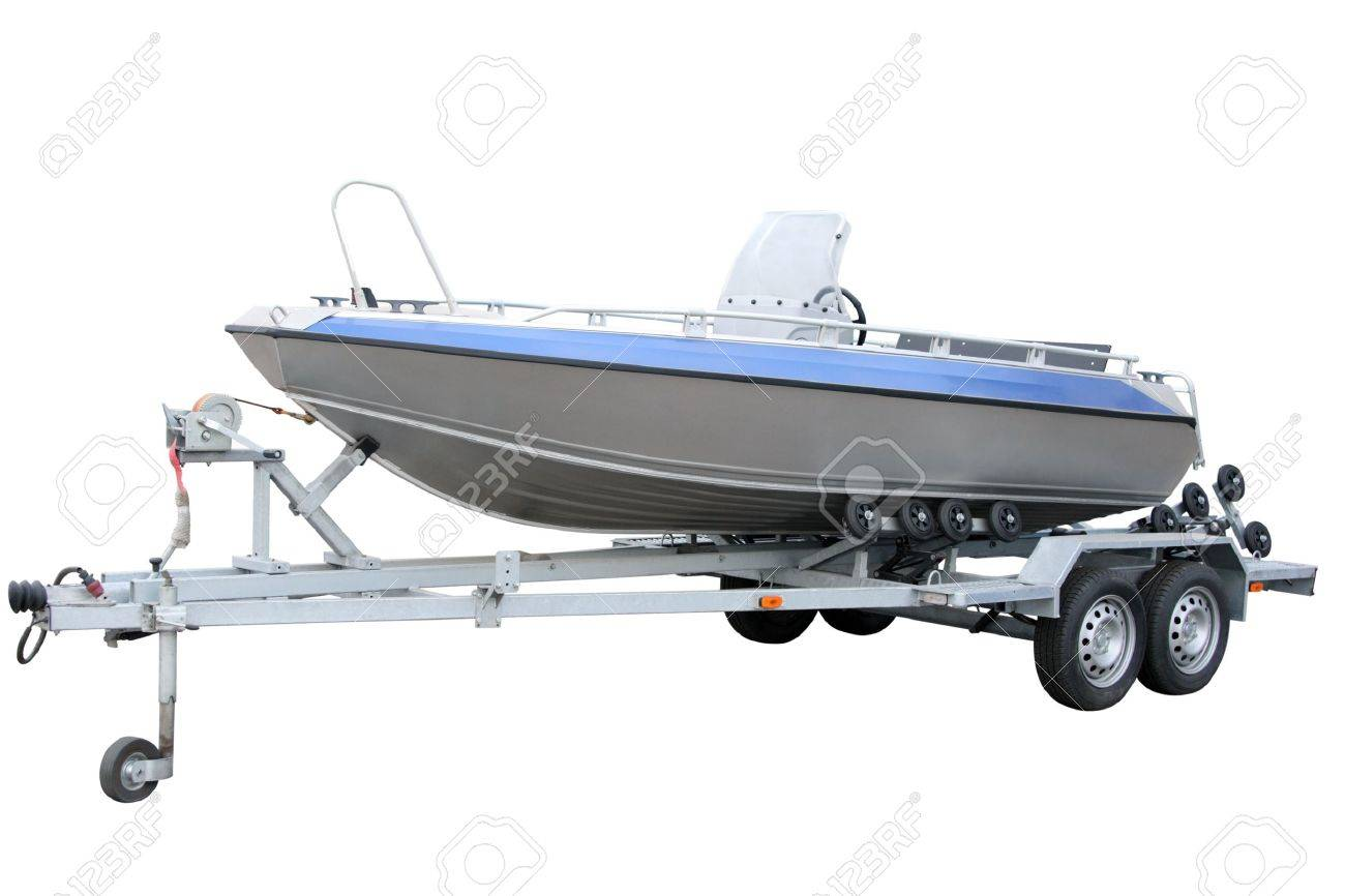 Motor Boat separately on a white background Stock Photo - 11571179