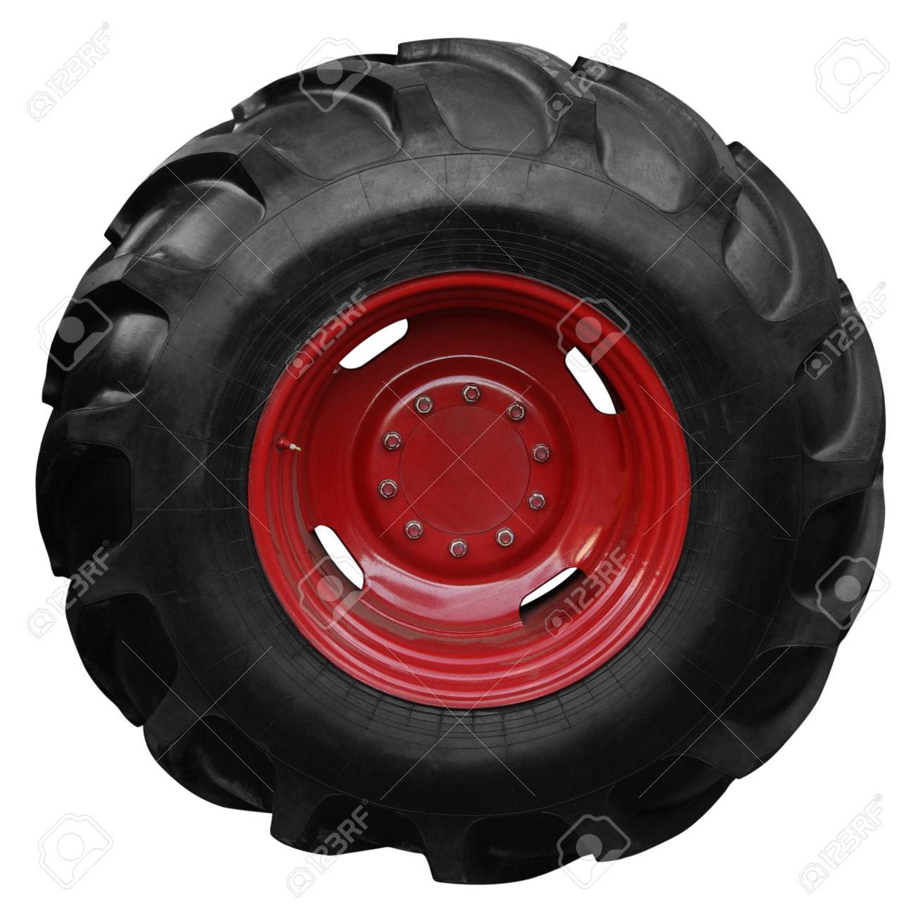 Tractor tire on white background Stock Photo - 12234896